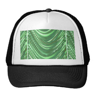 Back printed shirts Waves Patterns Green Elegant Mesh Hats