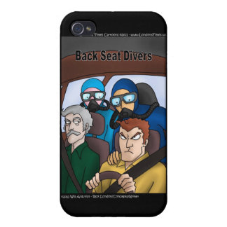 Back Seat Divers Funny Gifts Cards Mugs Etc iPhone 4/4S Case