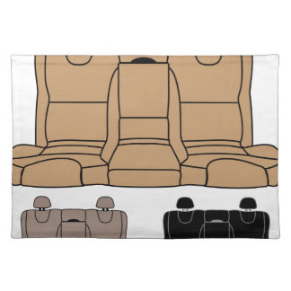 Back Seat vector isolated Place Mats