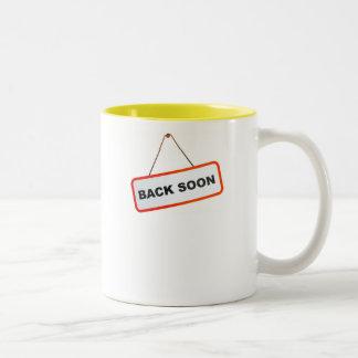Back Soon Two-Tone Mug