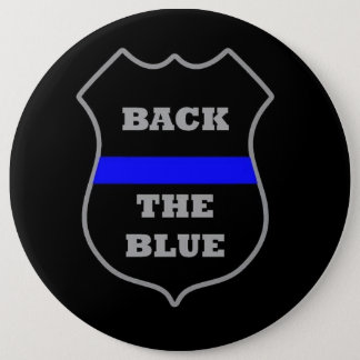 BACK THE BLUE 6 CM ROUND BADGE