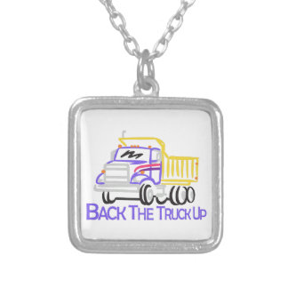 Back the Truck Up Silver Plated Necklace