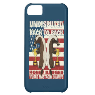 Back to Back Honey Badger World Mustache Champs iPhone 5C Case