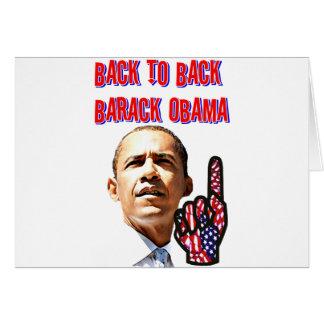 Back To Back,President Barack Obama_ Card