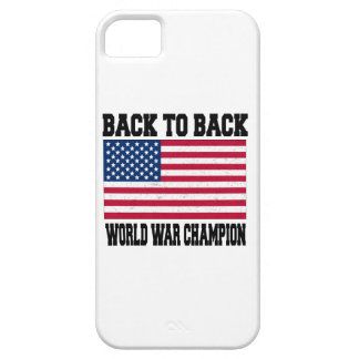 back to back world war champion iPhone 5 cover