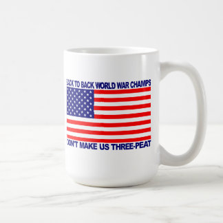 Back to Back World War Champs gear - WW Champions Coffee Mug