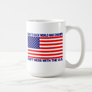 Back to Back World War Champs gear - WW Champions Classic White Coffee Mug