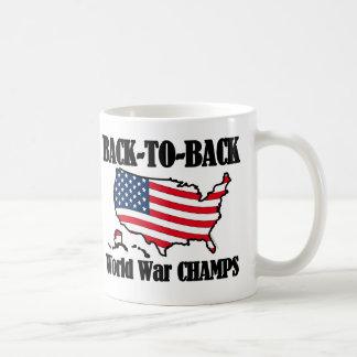 Back-To-Back WW Champs, USA Shape Basic White Mug