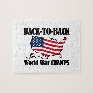 Back-To-Back WW Champs, USA Shape Jigsaw Puzzle