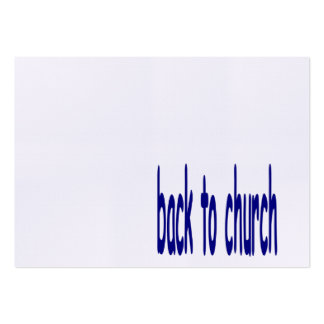 back to church business card templates
