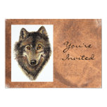 Back to Nature, Wolf, Animal Birthday Invite