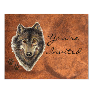 Back to Nature, Wolf, Animal Party Invite