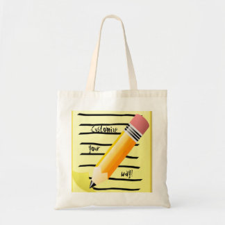 Back to School Bag Fun Note Pad Pencil Art