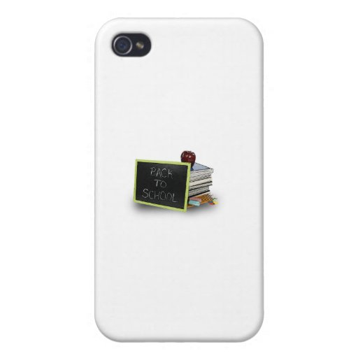 Back to school books iPhone 4 case