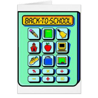 Back To School Calculator Card