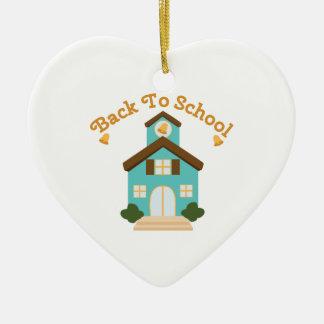 Back to School Ceramic Heart Decoration