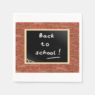 Back To School Chalkboard Paper Napkins