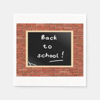Back To School Chalkboard Paper Napkins Disposable Napkin