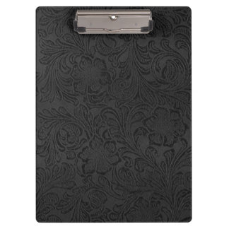 Back to School College Black Rustic Leather Clipboard