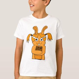 Back To School Cute Bunny Cartoon T-Shirt