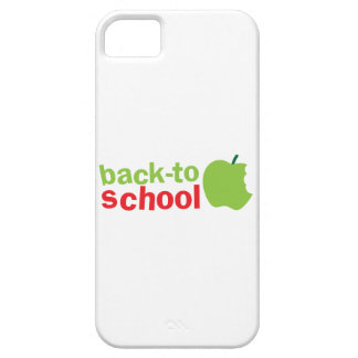 Back-To-School cute teacher design with an apple Barely There iPhone 5 Case