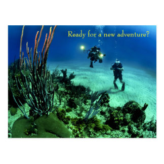 Back to School Deep Sea Diving Adventure Postcard