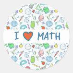 "Back to school: ""I love math"" sticker"