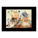 Back-to-school kittens in art class card
