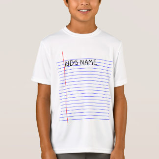 Back To School Notebook (Customizable Kid's Name) T-Shirt