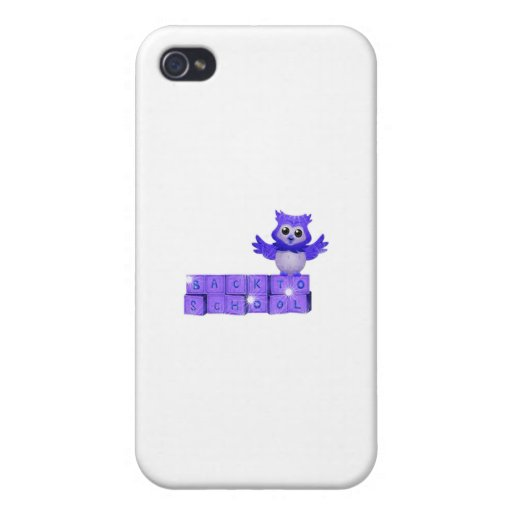 Back to school owl iPhone 4 case