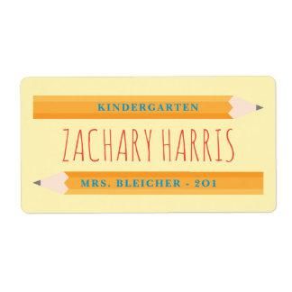 Back to School Pencil Label