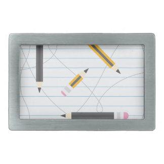 Back to School Pencils Rectangular Belt Buckle