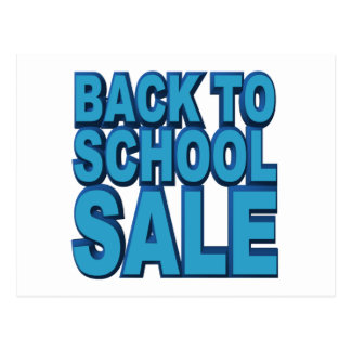 Back to School Sale Postcard