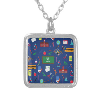 Back to School Silver Plated Necklace