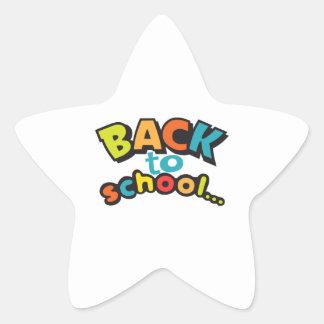 BACK TO SCHOOL STAR STICKER