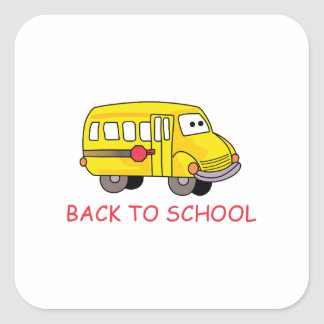 Back To School Square Sticker