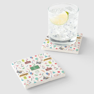 Back to School Stone Coaster
