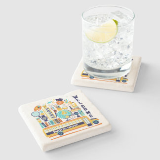 Back to School stone coasters