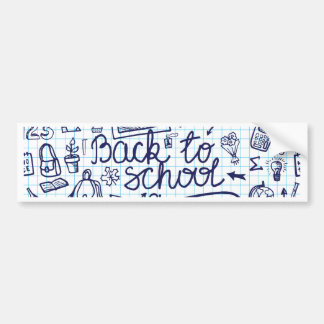 Back to School Supplies Sketchy Notebook decor Bumper Sticker