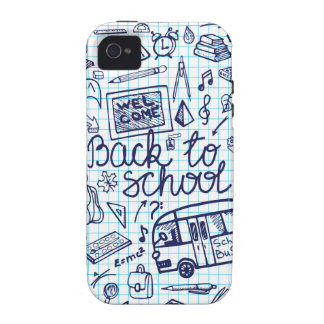 Back to School Supplies Sketchy Notebook decor iPhone 4 Cases