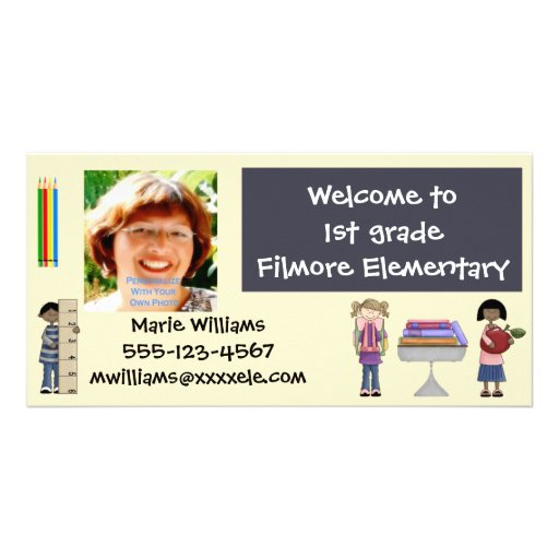 Back To School Teacher Cards Photo Greeting Card
