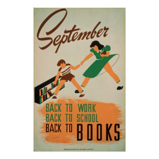 Back To School Vintage Poster