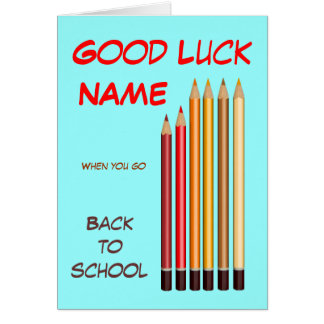 Back to school wishes card