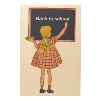 BACK TO SCHOOL WOOD WALL ART