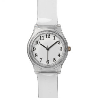 Back To The 70's Clear Lucite Retro Watch! Watch