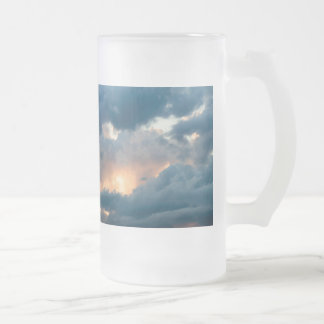 back to the early show frosted glass beer mug