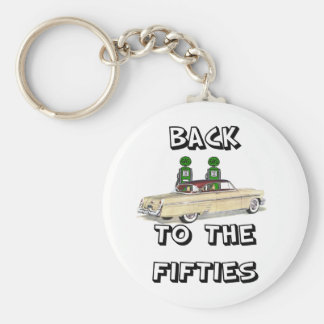 Back To The Fifties Vintage T-shirts and Gifts Basic Round Button Key Ring