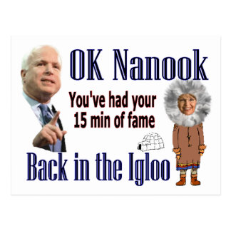 Back to the Igloo Postcard