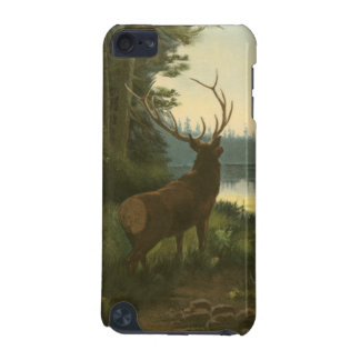 Back view of Elk Looking over a Lake iPod Touch (5th Generation) Covers