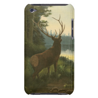 Back view of Elk Looking over a Lake iPod Touch Cases